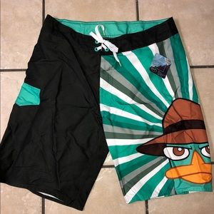 Swim - Phineas and Ferb Disney perry the platypus swim
